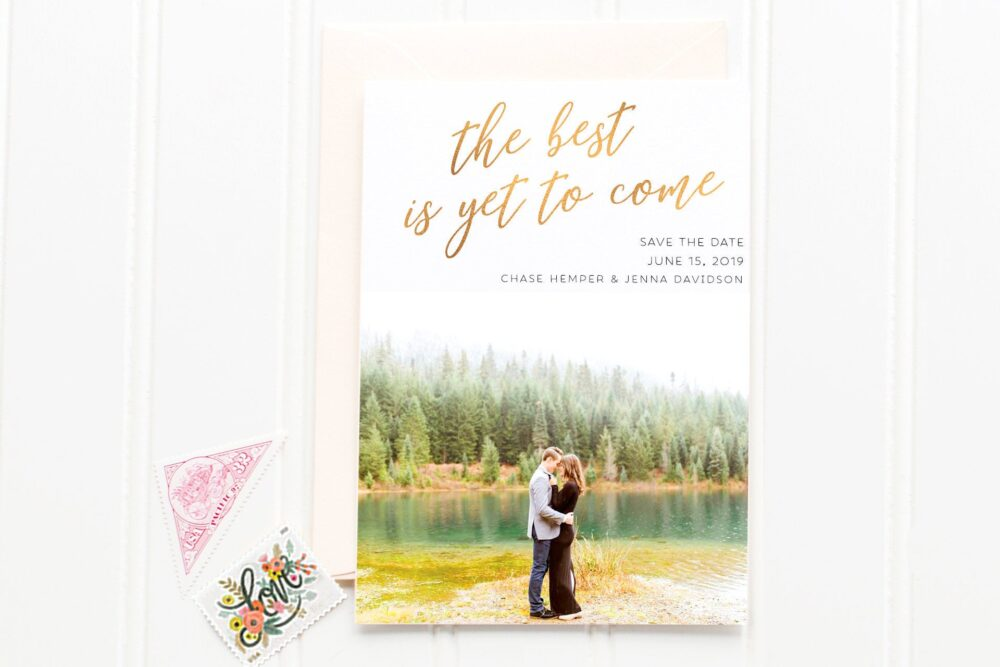 Save The Date, Modern Classic The Gold Foil Calligraphy, Photo Calligraphy Font Whimsical Date Prints