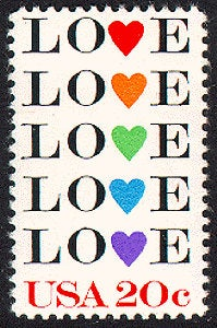 10x Love 1984 20C Vintage Postage Stamp Free Shipping Wedding Invitations #1 Source For Stamps With The Best Prices