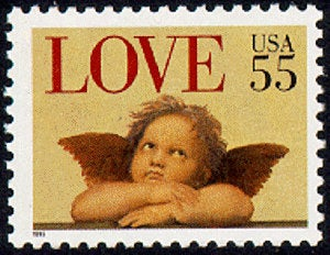 4x Love 1995 55C Cherub Unused Vintage Postage Stamp Free Shipping Great For Wedding Invitations #1 Source Best Prices On Stamps