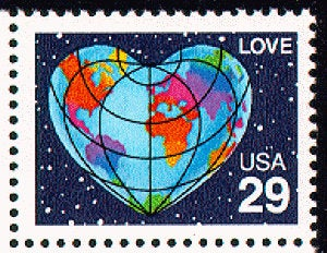 8x Love 1991 29C Unused Vintage Postage Stamp Wedding Invitations. Free Shipping #1 Source For Stamps With The Best Prices