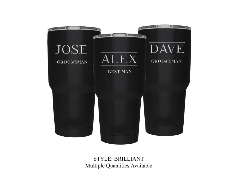 Groomsman Gift - Personalized Engraved 30 Ounce Stainless Steel Insulated Tumbler, Groomsmen Gift, Like A Yeti...but Better; Choose Qty