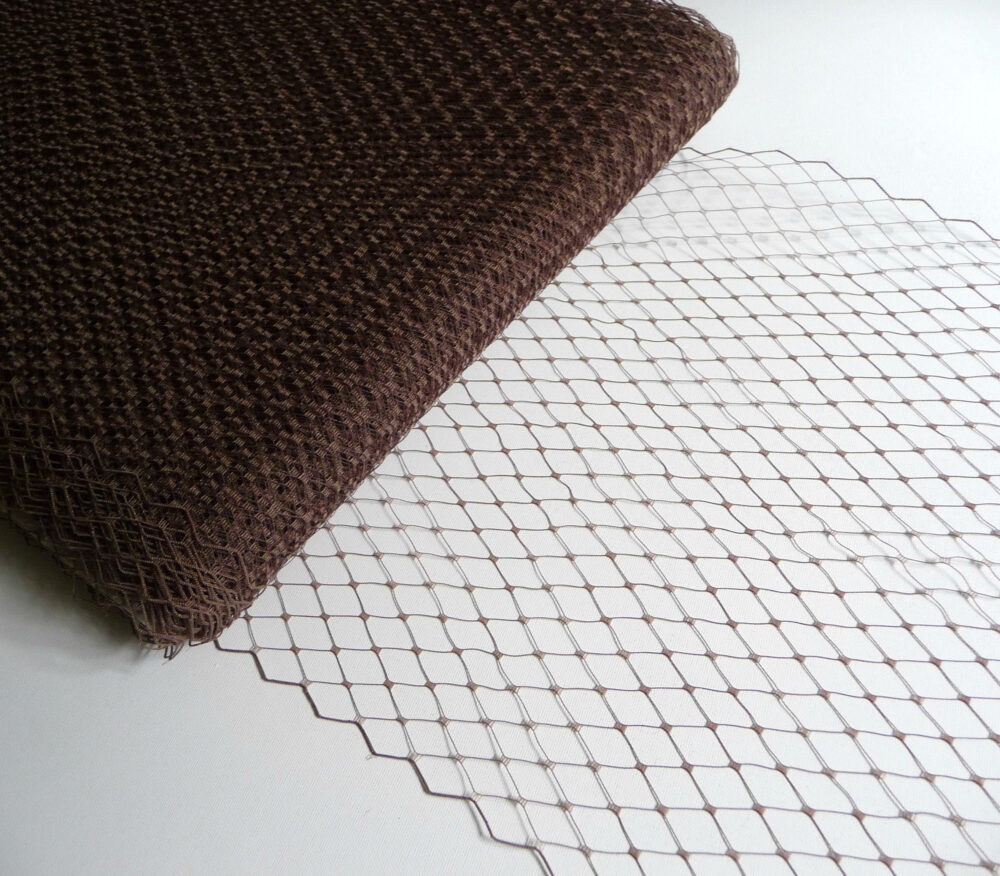 Dark Brown Veiling For Hats Millinery Supply 9 Inch Birdcage Russian French Netting Diy Veils Blushers Fascinators