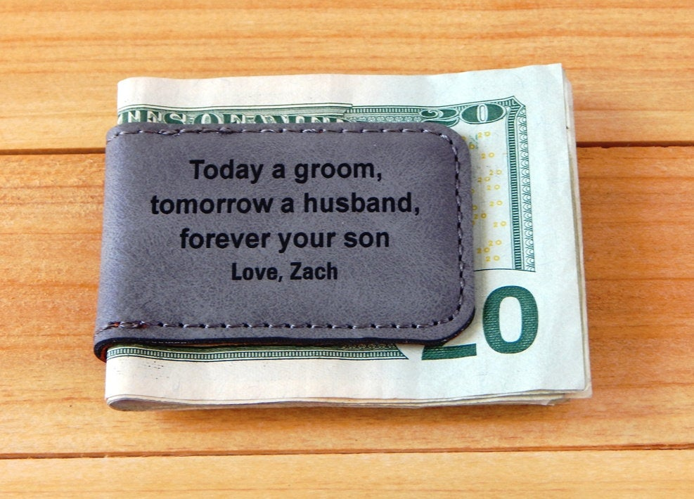Personalized Wedding Dad Money Clip From Groom - Today A Tomorrow Husband Forever Your Son Father Of The Gift