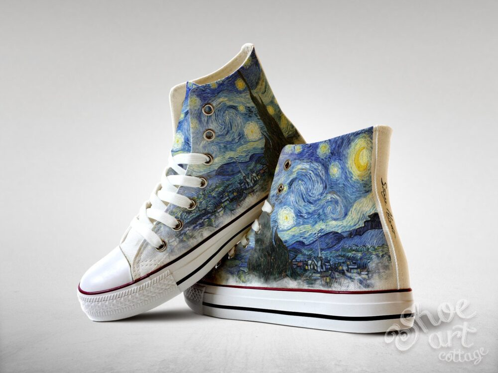 starry Night - Vincent Van Gogh, Custom Made Shoes