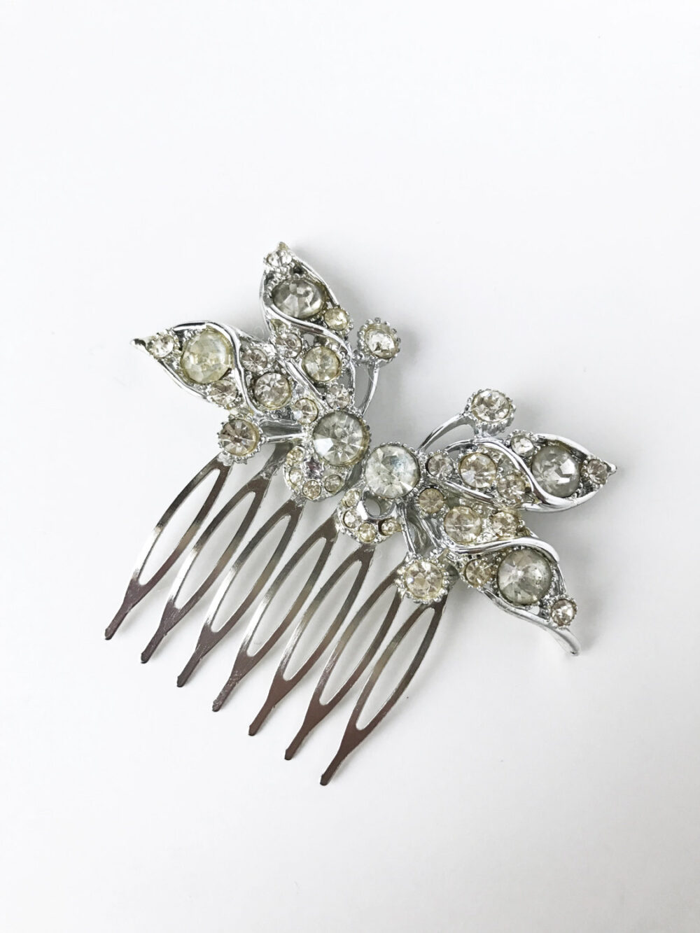 Wedding Hair Comb, Bridal Crystal Headpiece, Butterfly Headpiece