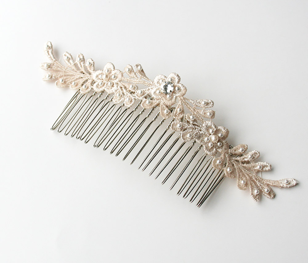Lace Hair Comb, Wedding Bridal Hairpiece