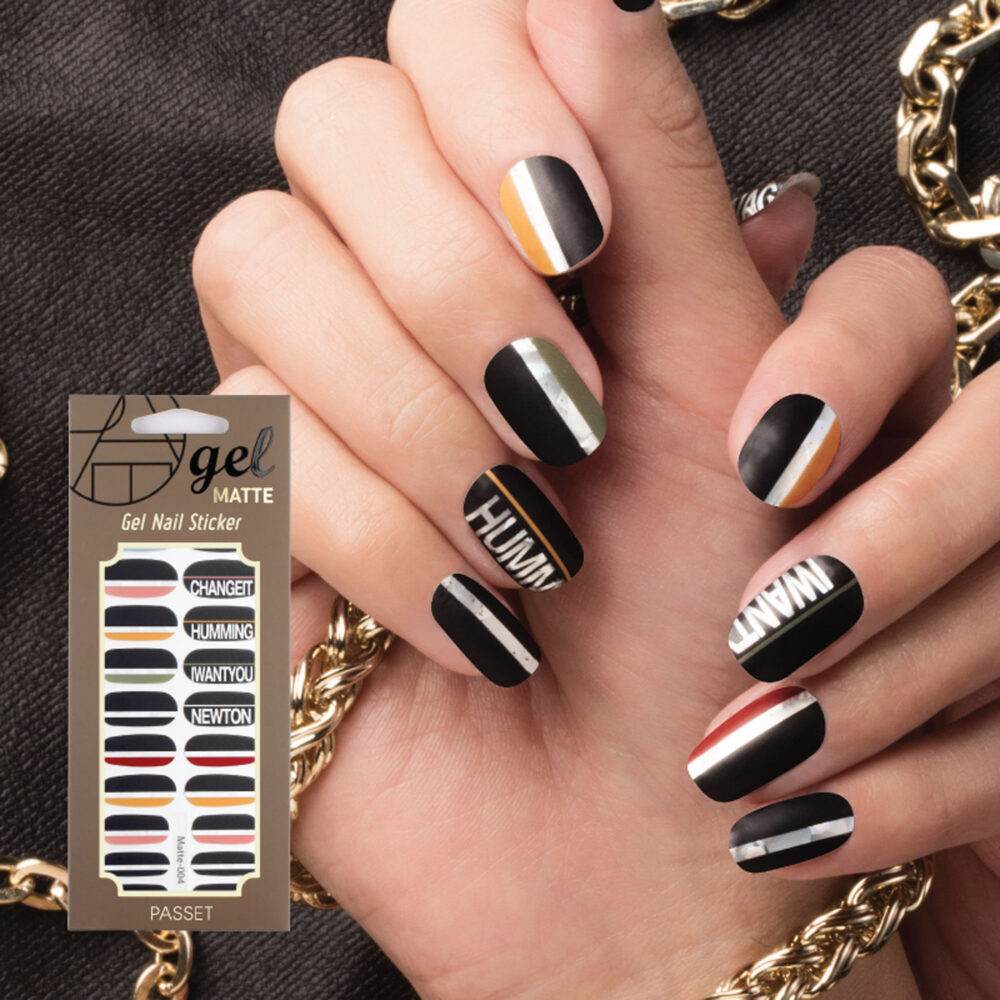 Matte Finish/Gel Nail Strips/ Stickers/Nail Wraps/ 2019 New Line 22 Pcs /Chaos /No Curing, No Soak Off