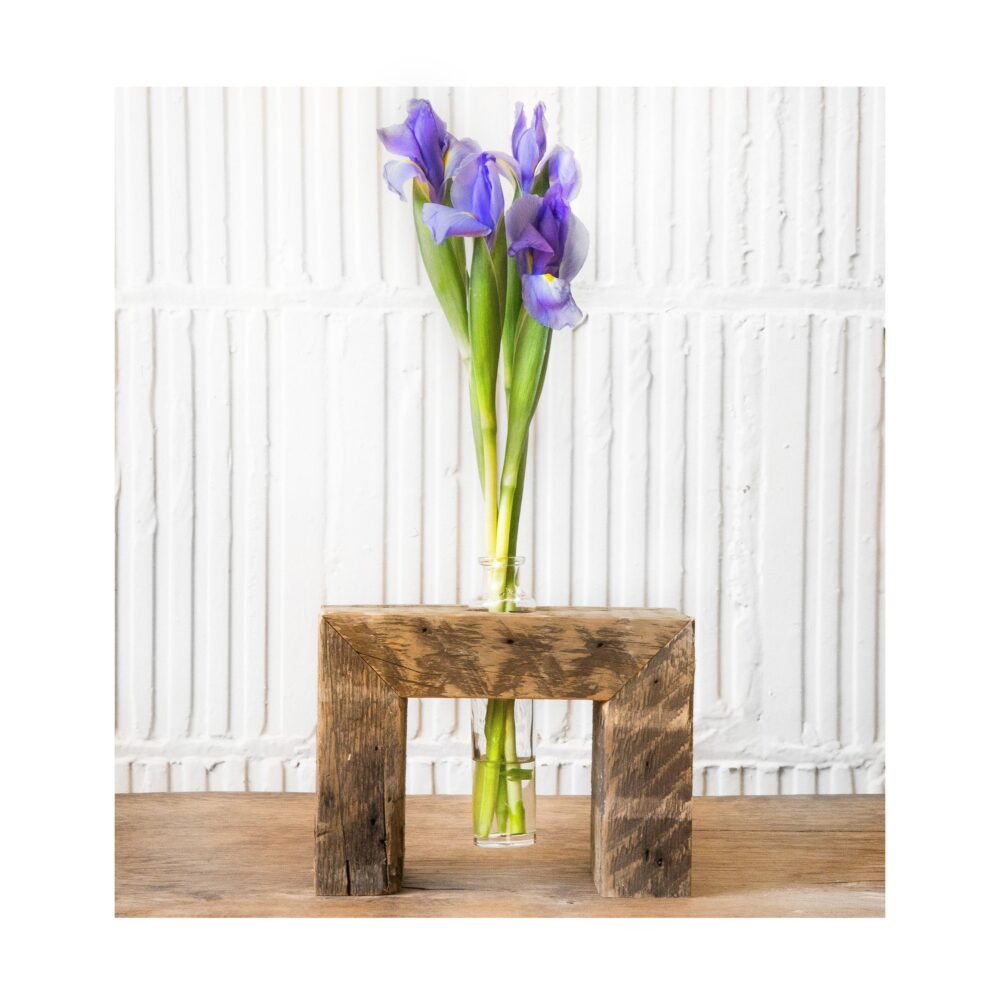 Flower Vase - Reclaimed Wood Bud-Vase Candle Holder Wood Stand Rustic Home Decor Handmade Gift Candle Centerpiece