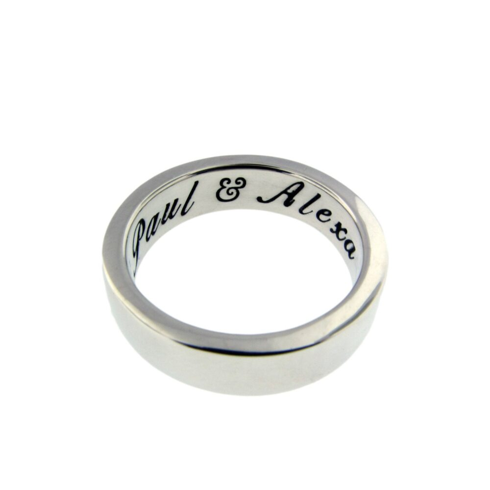 Thick Silver Ring, Personalized Ring For Women, Custom Men, Classic Band, Handstamped Name Vows Secret Message