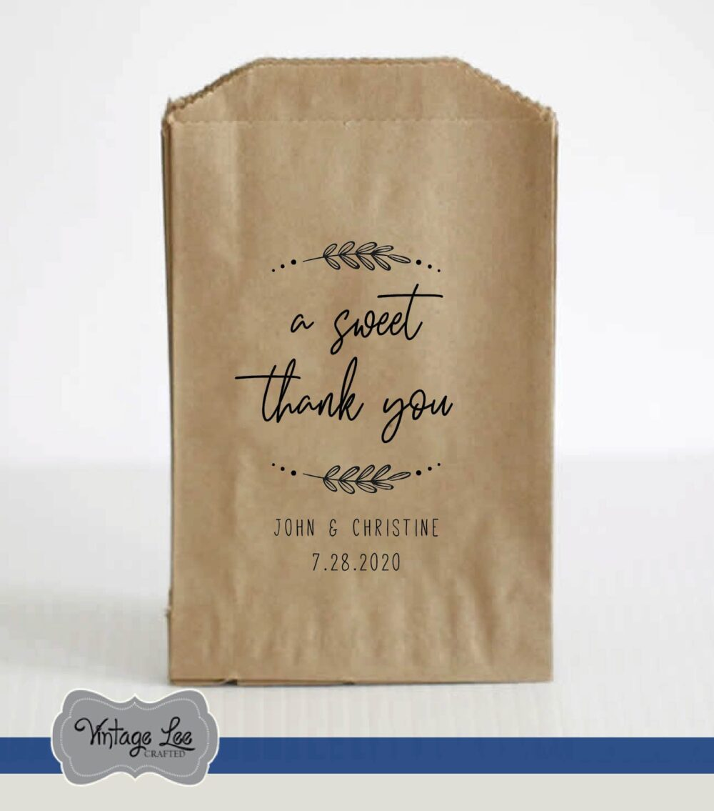 Wedding Favor Bags, Favors, Bags For Candy, Candy Welcome Bag, A Sweet Thank You Bag