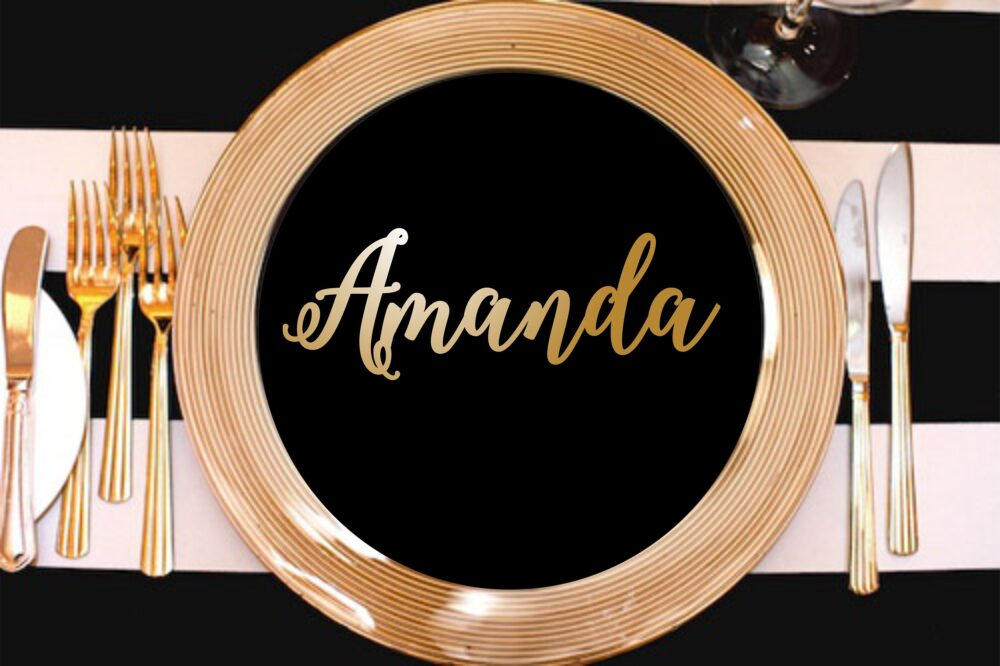 Wooden Laser Cut Names Wedding Place Cards Name Settings Tags For Wedding Rustic Laser Wood Sign
