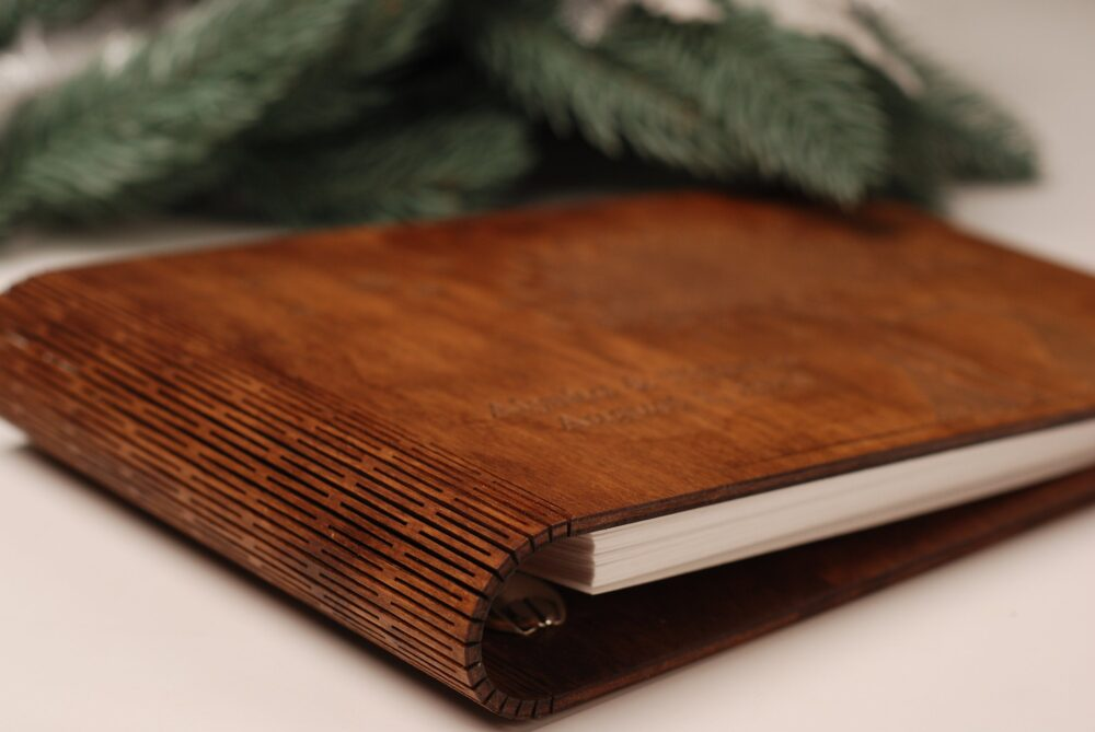 Engraved Book Country Guest Custom Engraved Wood Journal Wedding Rustic Wooden Guestbook A5