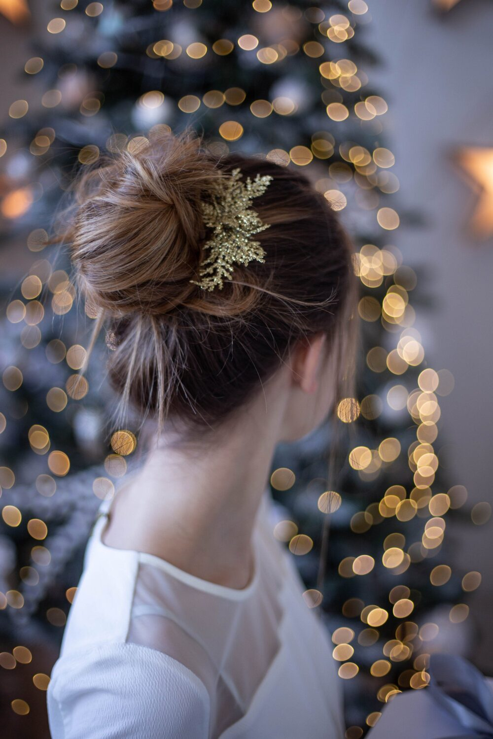 Winter Wedding Hair Accessories Christmas Comb Silver Hairpiece Gold Glitter Headpiece Bridal Bridesmaids