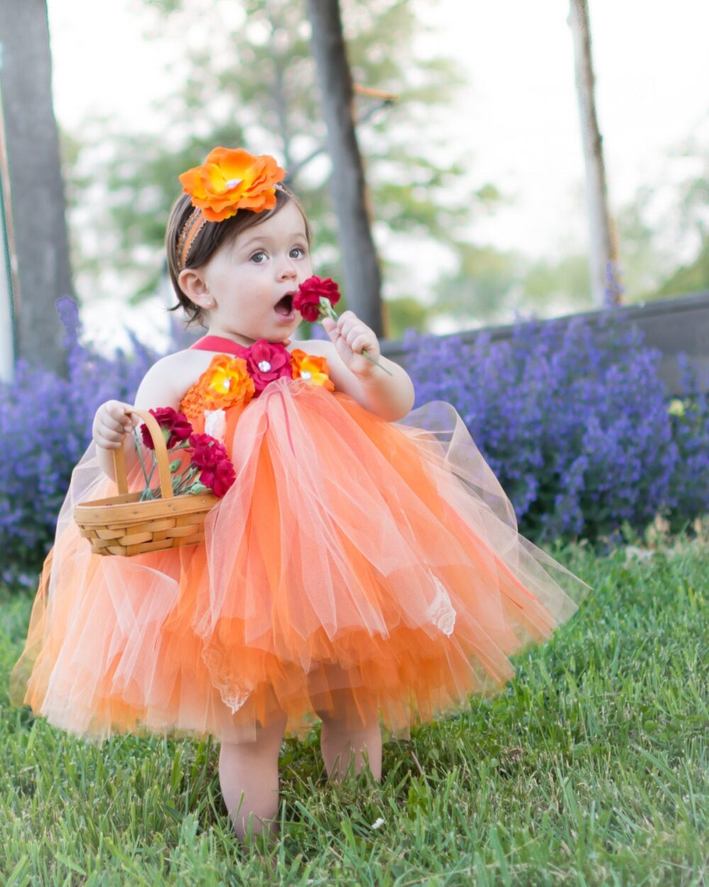 Fall Flower Girl Dress, Coral Tutu Orange Fall Wedding, Baby Tutu, Birthday Dress
