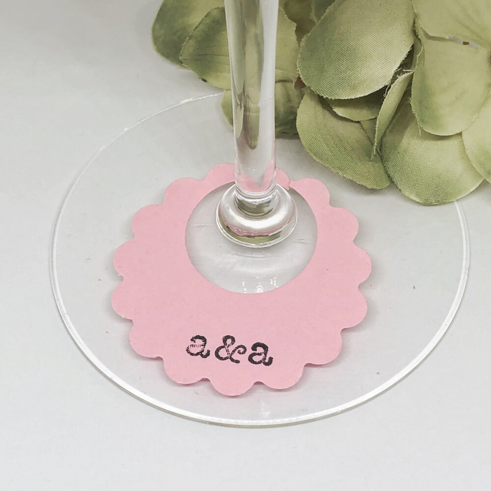 Custom Wine Tags, Paper Glass Wedding Charms, Labels, Lover Gift, Markers