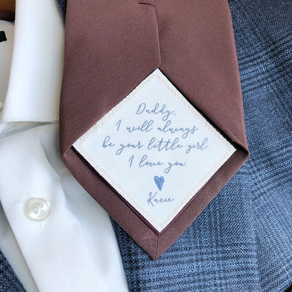 Wedding Tie Patch Father Of The Bride, Wedding, Square