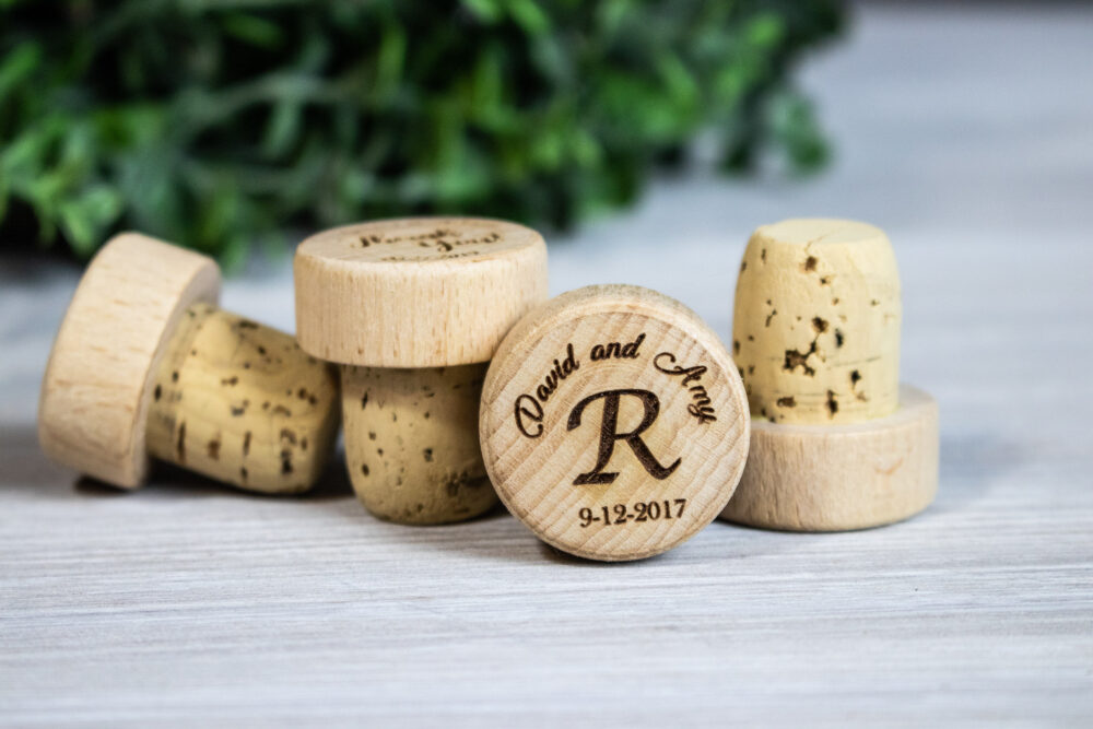 Wine Bridal Shower Favors, Bachelorette Party Personalized Stoppers, Farmhouse Wedding Bulk Favors
