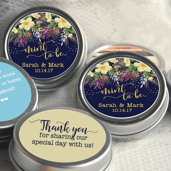 Personalized Mint To Be Tin Mints Wedding Favor - Favors Fall Flowers