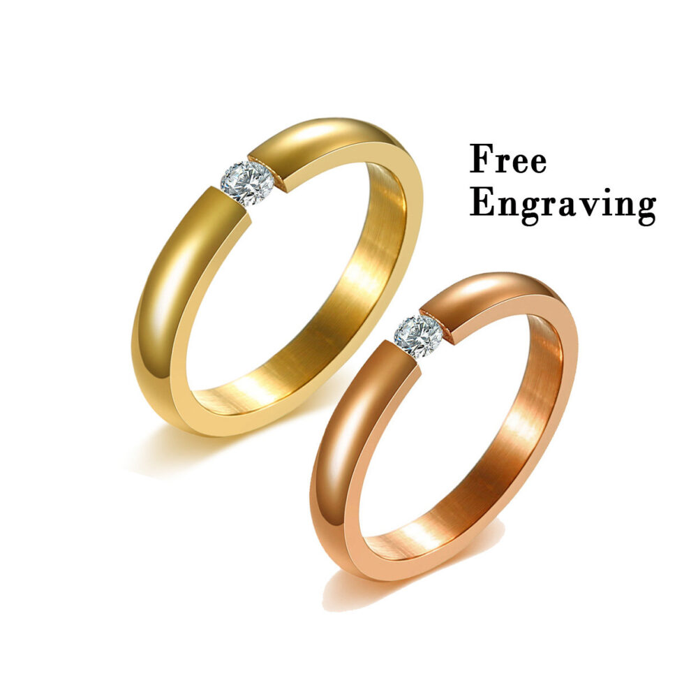 Promise Rings For Couples, Couple Rings, Mother Daughter Rings, Wedding Type 316 Stainless Steel , Best Best Friend