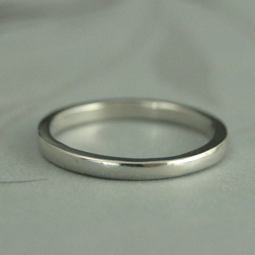 Women's Platinum Band~2mm Band~Substantial Wedding Ring~Women's Ring~Platinum Ring~Thick By 1.5mm