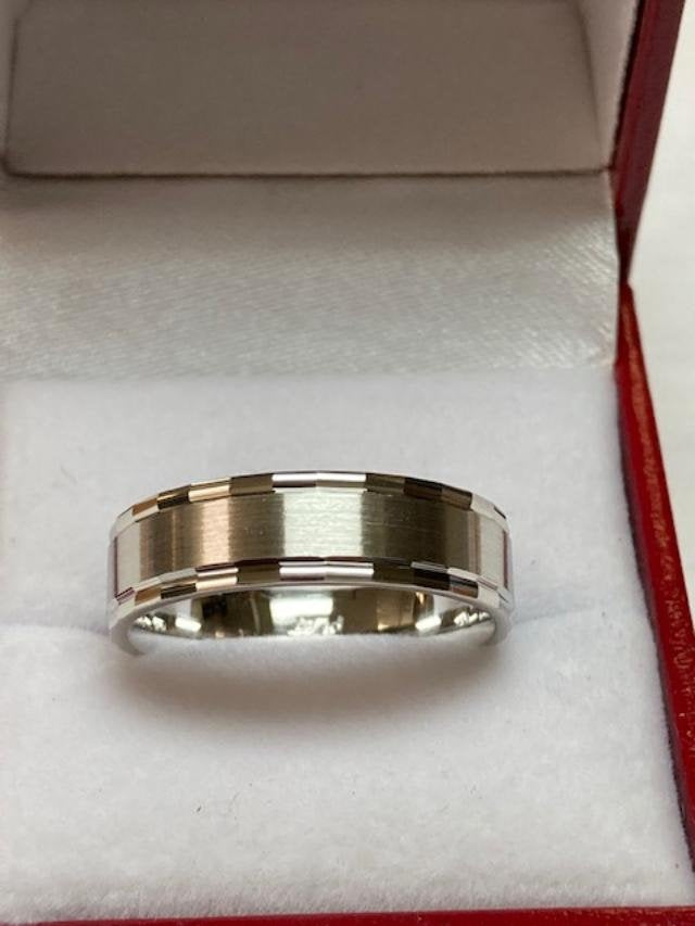 Mens Platinum Wedding Band, Ring , 950 His & Hers Rings