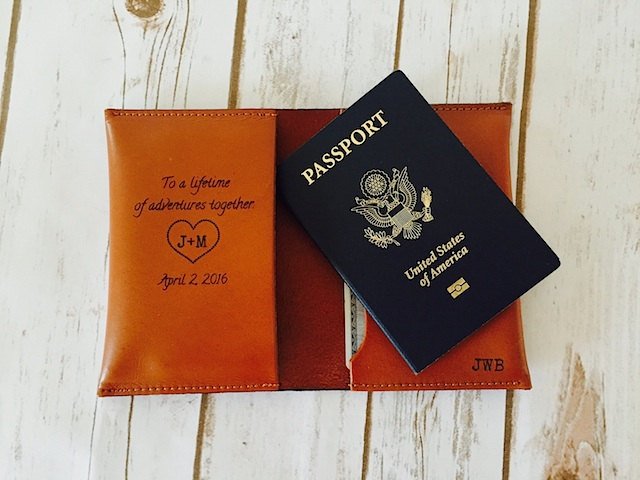 The Perfect Wedding Gift, Passport Cover Holder, Husband Groom Gift From Bride, Lifetime Of Adventures Passport, Bride To