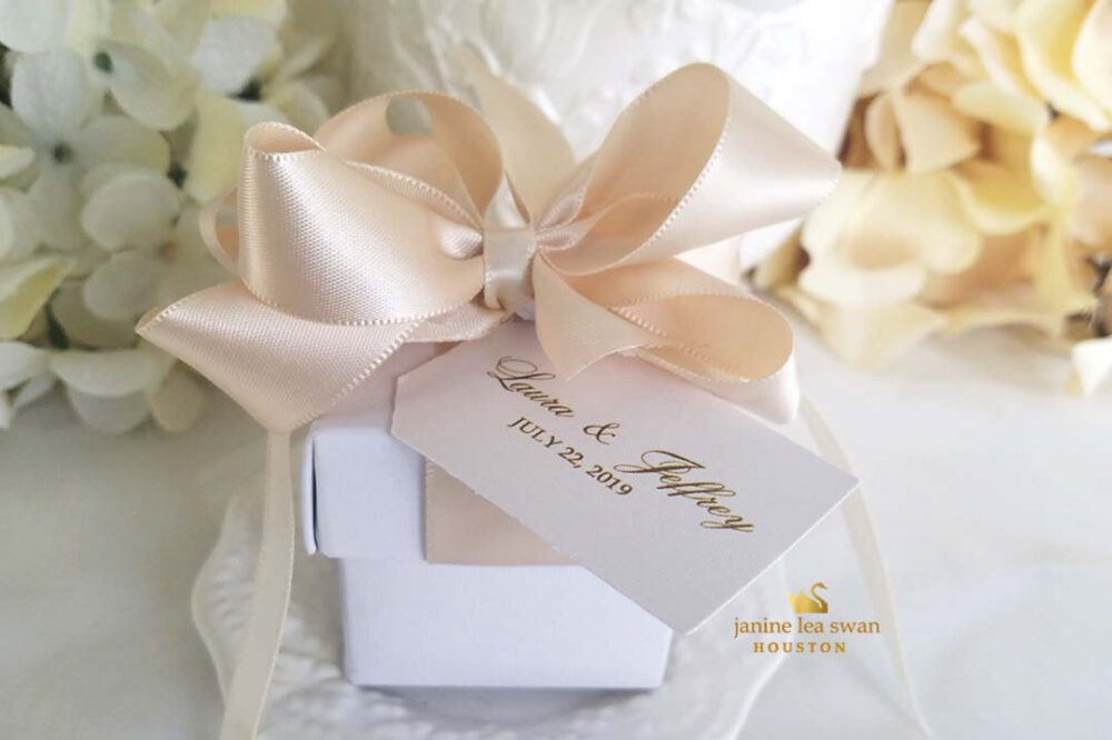 Bow Favor Boxes 2 in Piece Box Wedding Favor Boxes Ribbon Unique Elegant 20 At 4.00 Ea