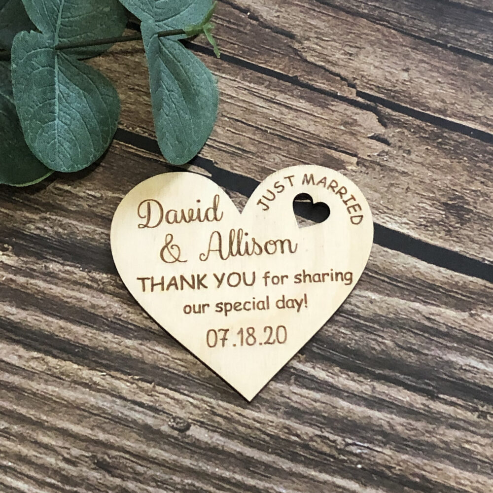 Heart Wedding Favor, Thank You Favors, Favor Magnet, Gift For Bride, For Groom, Save The Date, Gifts Guests, Wooden