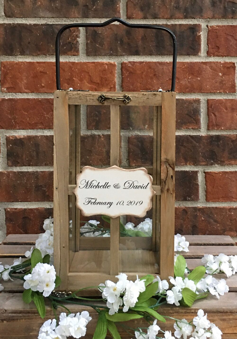 Wedding Card Lantern - Wishing Well Box Alternative Holder Farmhouse Decor