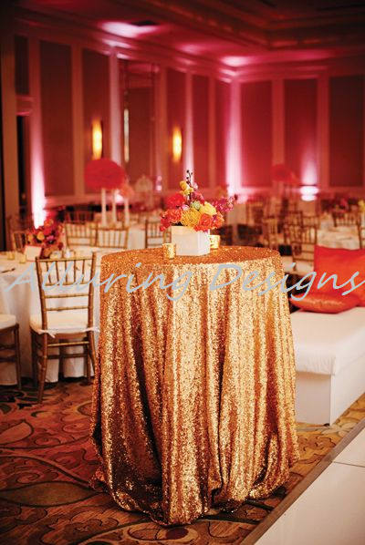 Sequin Round Tablecloths Linens Wedding Event Party Anniversary Shower Bridal Reception Glitz Bling Decor Cake Sweetheart Table Holiday