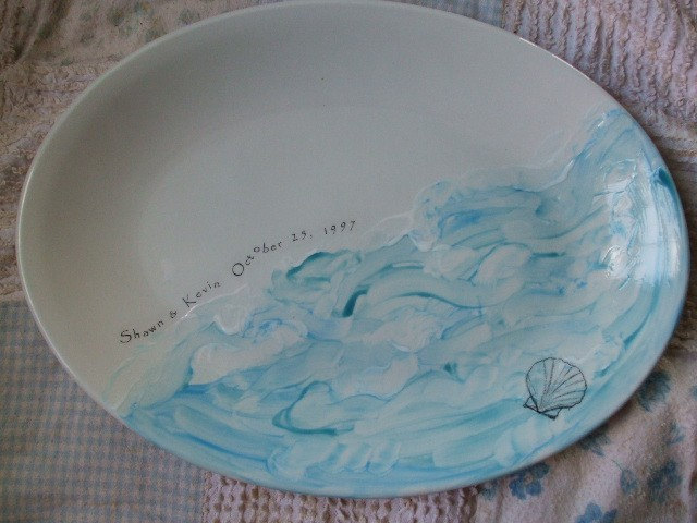 Personalized Platter, Wedding Gift For Couple, Anniversary Gift, Serving, Ocean, Sea, Sea Shell, Couples Gift, Dish