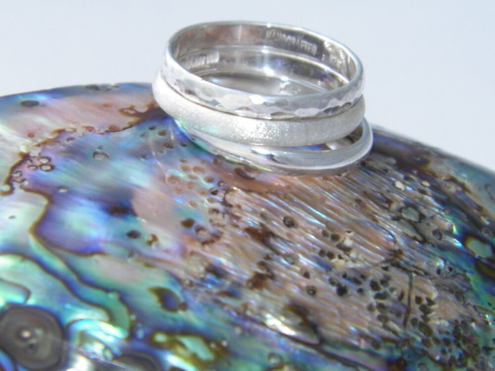 Hand Made.925 Sterling Silver Wedding One Band Stackable Ring-Choose Your Size & Finish