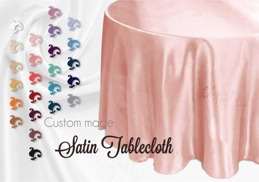 Thick Satin Wedding Tablecloth Made To Order For Lace Overlay Sequin Mesh Tutu Table Skirt Sweetheart Cake Bridal Shower Decor