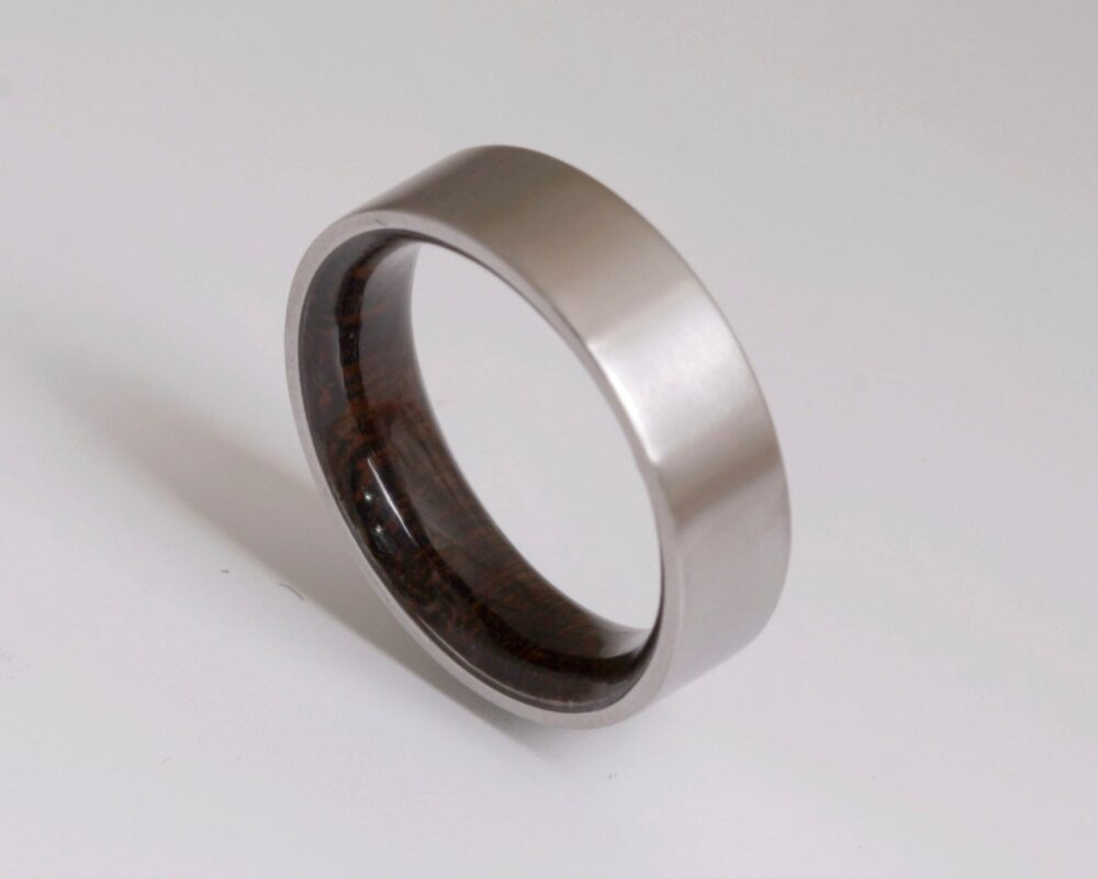 Wood Ring Titanium Band Wedding Woman Man Jewelry Engagement Australian Wenge Wood