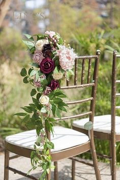 Wedding Aisle Decorations For Pews/Chairs. Can Order in Any Colors/Flowers You Wish. Just Message Us
