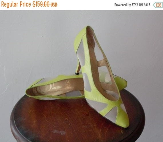 50%off Save Now Gucci Shoes Style Wedding Heels 70S Heel Lime Green Mesh Top 80S Prom Dress Cinderella Leather Pump Shoe 7