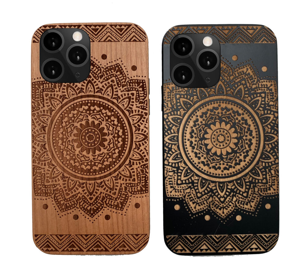 Mandala Wood Phone Case Iphone 5 6 7 8 Plus X Xr Xsmax Xs Max 11 Pro Best Gift For Couples Loved Ones
