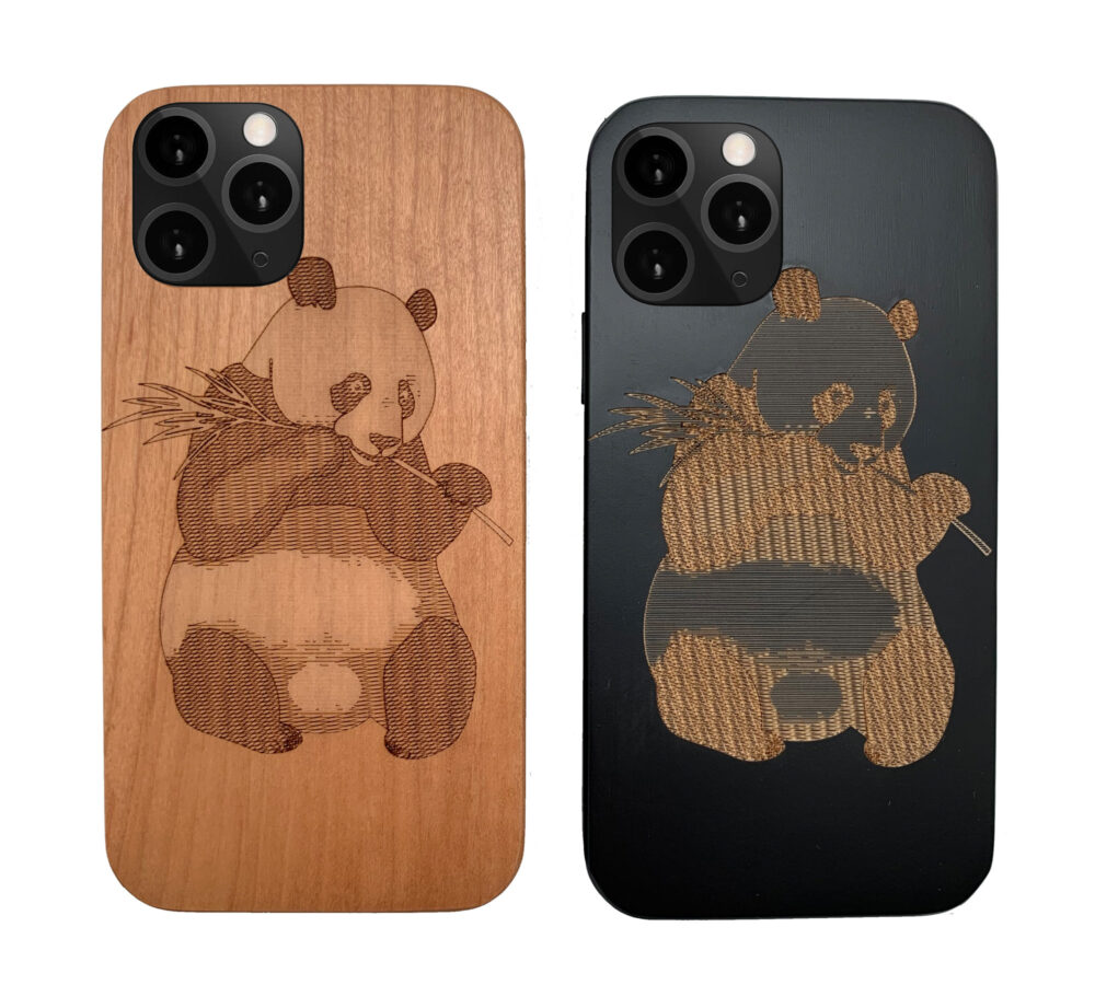 Engraved Wooden Phone Case Iphone 5 6 7 8 Plus X Xr Xsmax Xs Max 11 Pro Best Gift For Couples Loved Ones Cute Panda