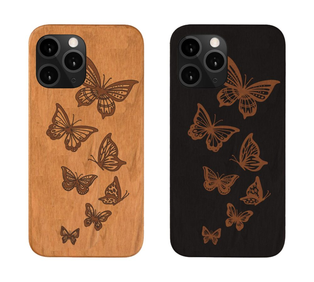 Google Pixel 4A , 4 Xl Butterfly Wood Phone Case Samsung S20 Note 20 Plus, Iphone 12, Engraved Personalized , Best Gift For Couples