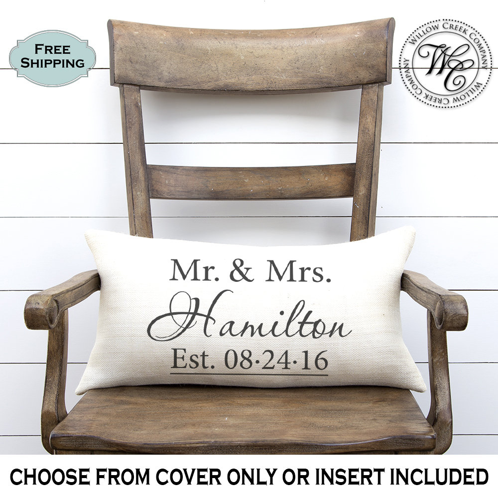 Wedding Gift, Monogram Pillow, Gifts, Gifts For Couple, Personalized Gift, Burlap