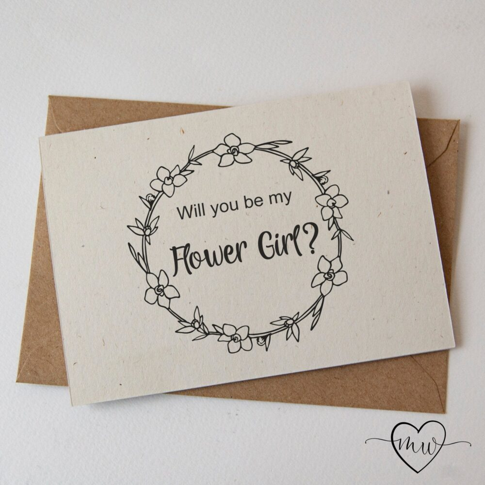 Flower Girl Proposal Cards Wedding Bridesmaid Card Will You Be My Gift Maid Of Honor