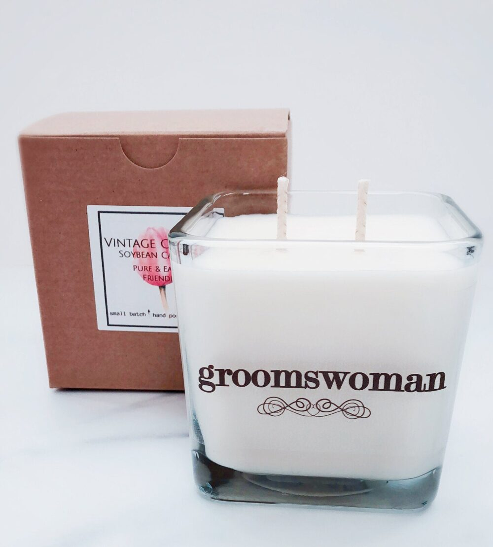 Groomswoman Wedding Candle~Groomswoman Gift~Best Woman Gift~Wedding Candles~Bridal Party Gifts~Bridesmaid Proposal Boxes~Bridesmaid Gifts~