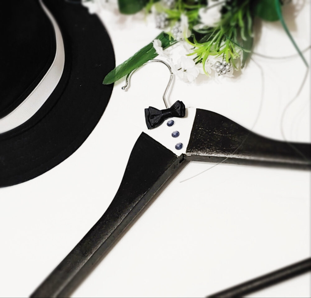 Grooms Wedding Hanger - Tuxedo Hager Best Man Gift For Groom Personalized Father Of The Bride