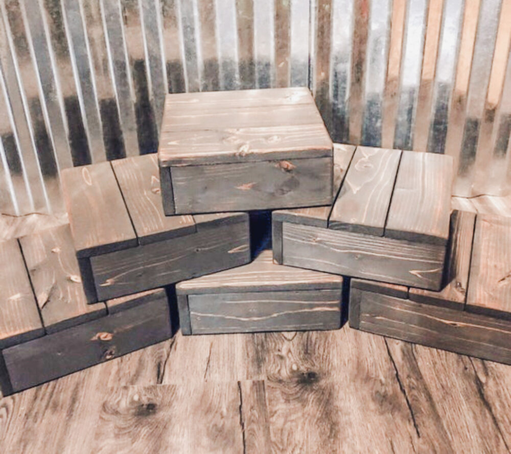 Rustic Wood Cupcake Stands, Set Of 6, Wedding Party Decoration, Dessert Table Display, Cup Cake, Wooden, Appetizer Display