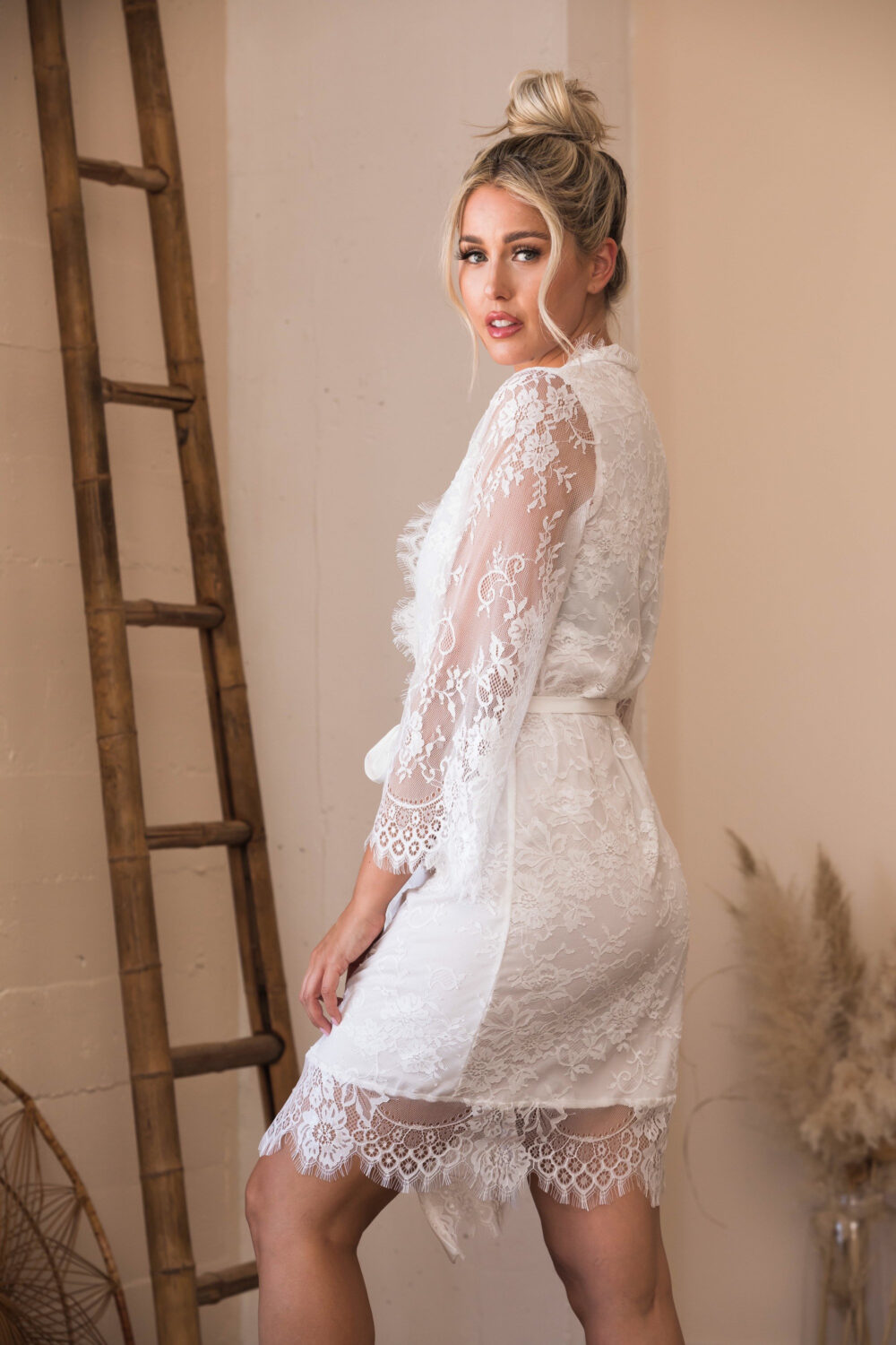Lace Wedding Robes-Bridal Robe-Bridesmaid Robes-Bride Robe-Bridal Party Shower Gift-Gift For Bride-Lace Gifts