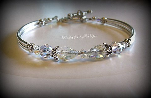 Bridesmaid Bracelet Wedding Jewelry, Anniversary Bracelet, Mother Of Bride Gift For Her, Bridal Party