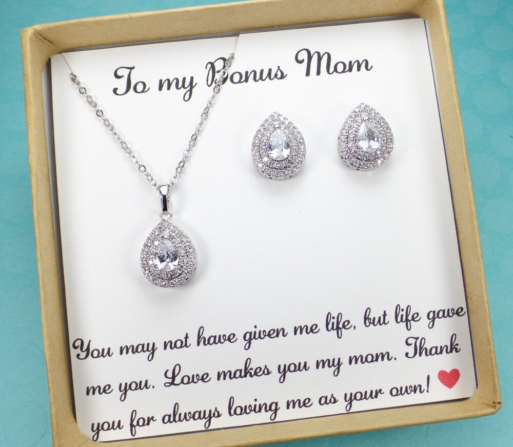 Stepmother Gift, Stepmom Wedding Gift, Mother Of Bride Gift, Bonus Mom The Groom Gifts For Step