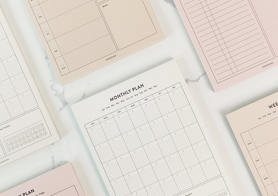 A5 Size Daily/Weekly Monthly Planner Note Pad