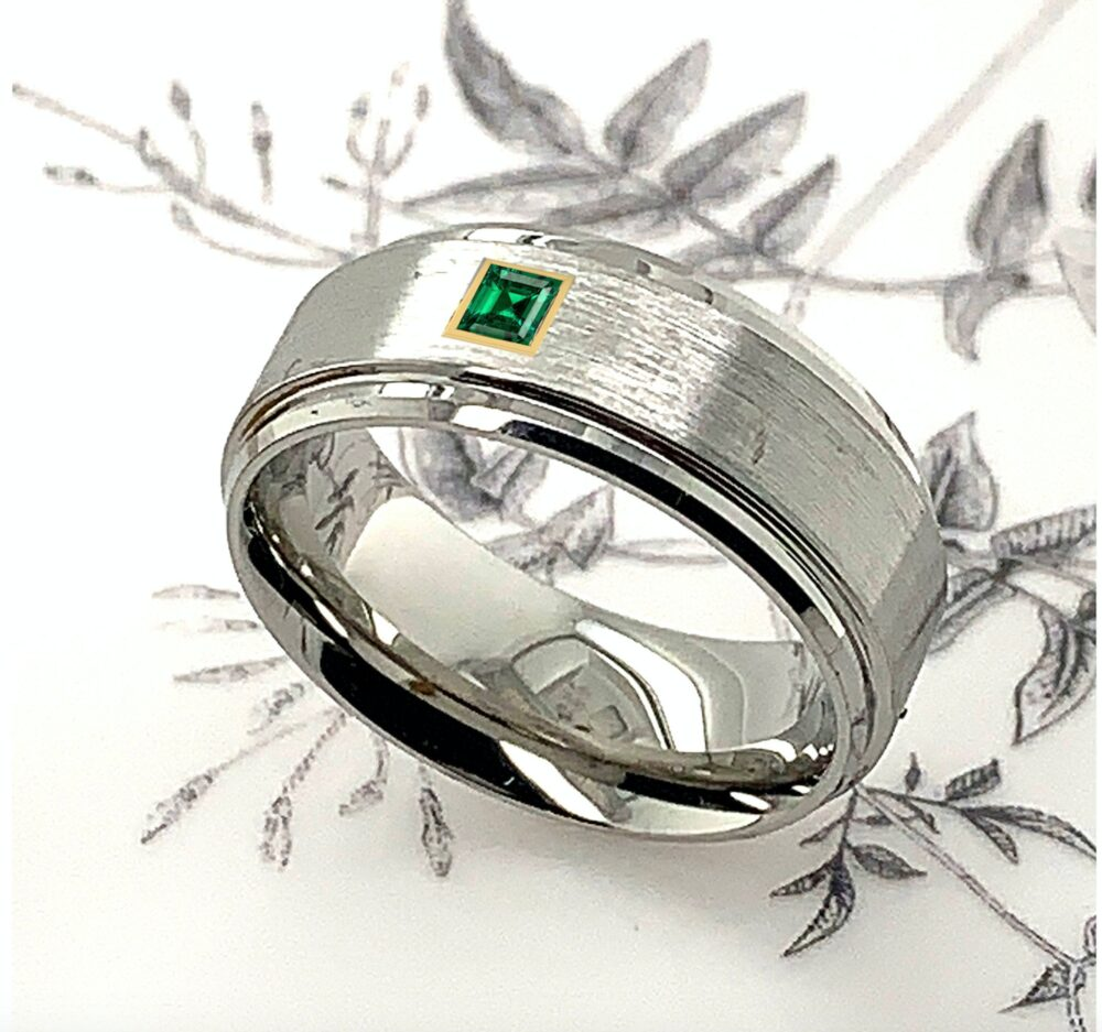 Cobalt Rings, Mens Emerald Band, Ring, Womens Custom Wedding Ring