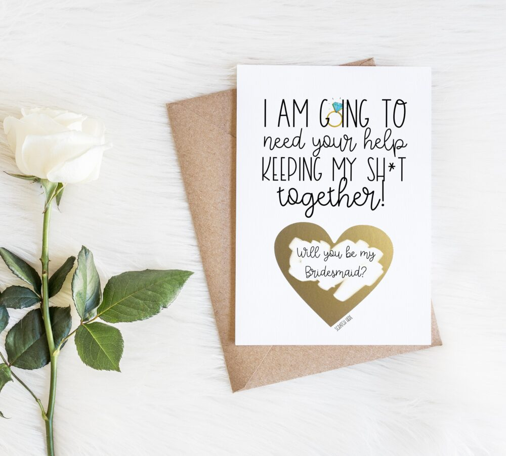 Funny Bridesmaid Card, Scratch Off Proposal Cards